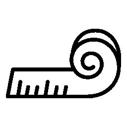 測定テープ無料アイコン