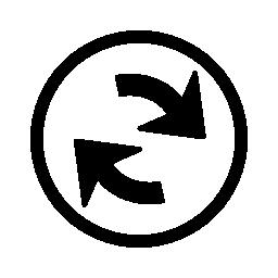 サークル無料アイコン内部ナビゲーション矢印インタ フェース シンボルを更新します。