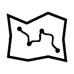 マップのルートの無料アイコン