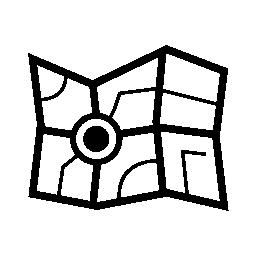 道路無料アイコンの地図