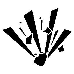 シルエットや形爆発バリアント無料アイコン