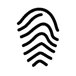 指紋の近い一見の無料のアイコン