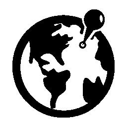 世界中の無料のアイコン上のプレース ホルダー