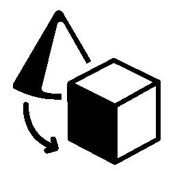 オブジェクト変換インタ フェース シンボル無料アイコン