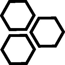 六角形の無料アイコン