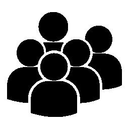ユーザー グループの無料アイコン