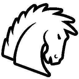 馬輪郭を描かれた頭無料アイコン
