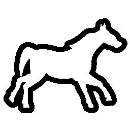 馬概説図形側ビュー無料アイコン 動物 無料アイコンを集めたアイコン専門のフリーアイコンボックス