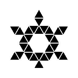 三角形と六角形センター無料アイコンによって形成される六つのポイント スター