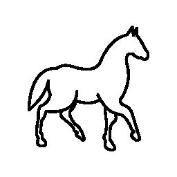 1 つの足で歩く馬解除無料アイコン