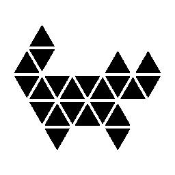 多角形の猫無料アイコン