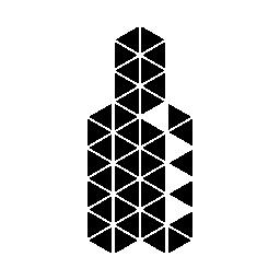 多角形のボトル無料アイコン