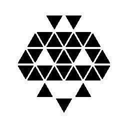 ハロウィーンの多角形の顔の無料のアイコン