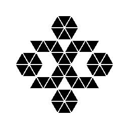 多角形の飾り無料アイコン