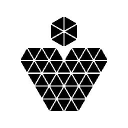無料のアイコンを小さな三角形のハート ペンダント