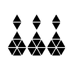 多角形のボウリング一括ピン無料アイコン