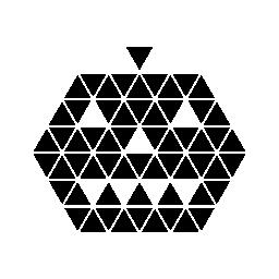 無料のアイコンを小さな三角形の多角形のハロウィーンのカボチャ顔