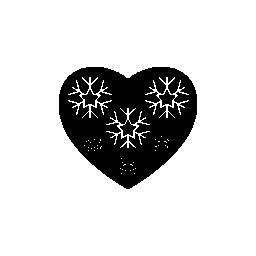 装飾無料アイコンと心