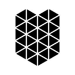 多角形の盾形無料アイコン