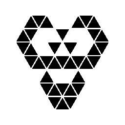 多角形エイリアン無料アイコン