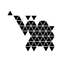 多角形の象無料アイコン