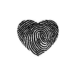 指紋ハート形の無料アイコン