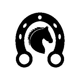 ホースシュー無料アイコンで馬の頭