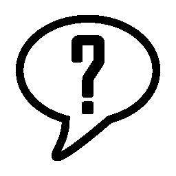 疑問符アイコンは無料で音声バルーンの概要