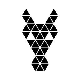 馬正面の多角形の頭の形の無料アイコン