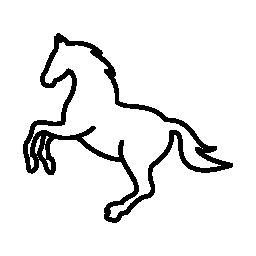 白ジャンプ馬概要無料アイコン