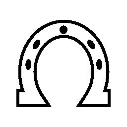 馬蹄形の白い概説図形無料アイコン