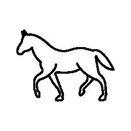 白の歩く馬概要無料アイコン