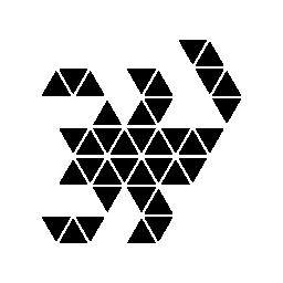 多角形のスコーピオン無料アイコン