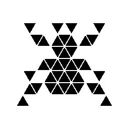 多角形の蜘蛛形無料アイコン