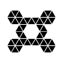小さな三角形のラインの多角形の対称的な飾り無料アイコン
