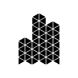 無料のアイコンを小さな三角形の多角形の建物