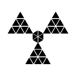 多角形の放射線シンボル無料アイコン
