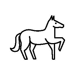 馬の 1 つのフロント足概要無料アイコンを持ち上げる