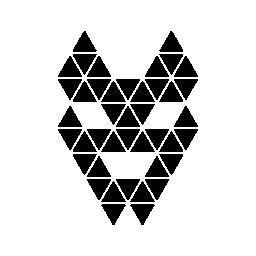多角形のオオカミ ヘッド無料アイコン