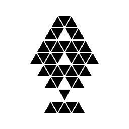 多角形のクリスマス ツリー無料アイコン
