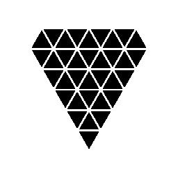 無料のアイコンを小さな三角形の多角形のダイヤモンドの形