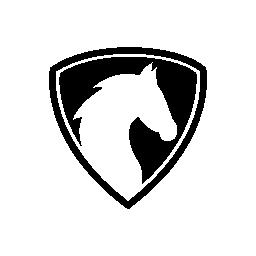 馬の頭シールド無料アイコン