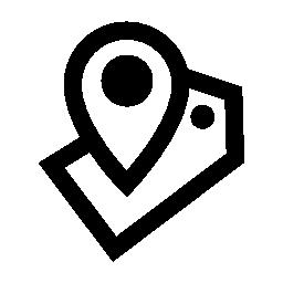 場所のプレース ホルダーとラベルの概要無料アイコン