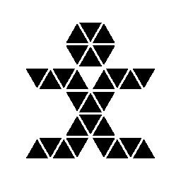 無料のアイコンを小さな三角形の多角形の人間の姿