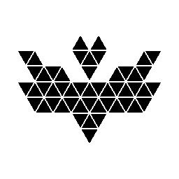 多角形のバット形無料アイコン