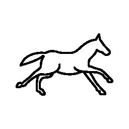 馬概要側ビュー無料のアイコンを実行しています。