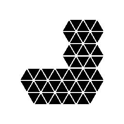 多角形の靴下無料アイコン