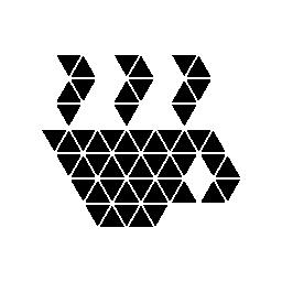 多角形のコーヒー カップ無料アイコン