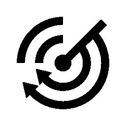 Rss フィードとレーダー無料アイコン