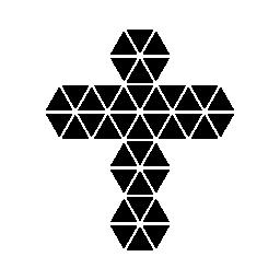 無料のアイコンを小さな三角形のポリゴン交差